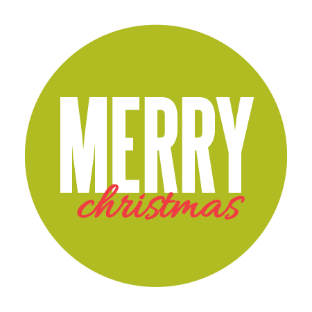 """Merry Christmas"" Green Sticker"