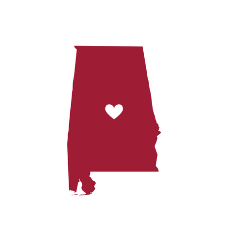 State of Alabama with Heart