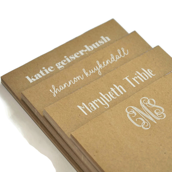Personalized Small Kraft Notepads