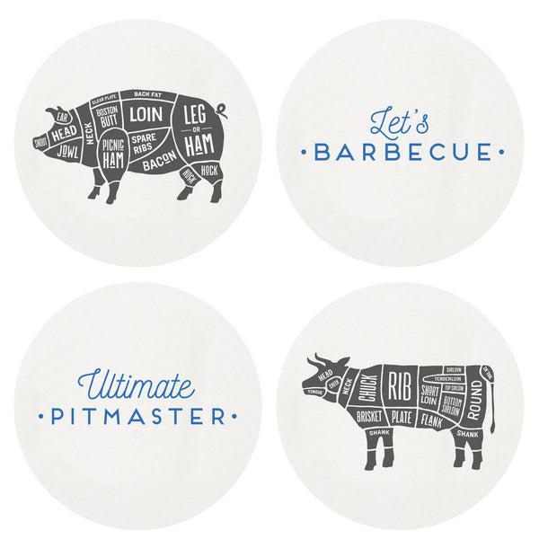 Letterpressed Barbeque Coasters