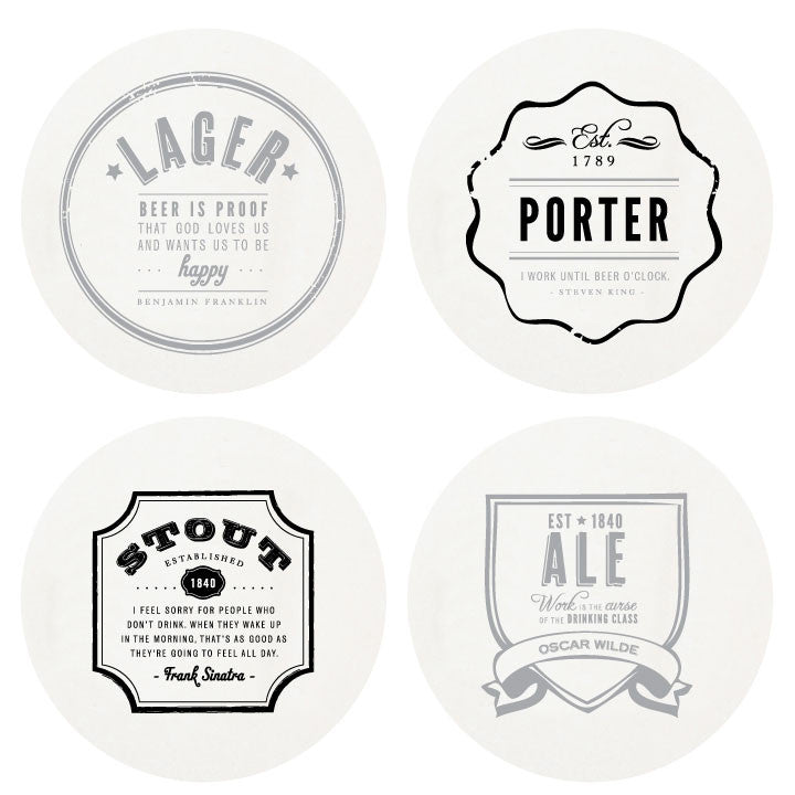 Letterpressed Beer Coasters