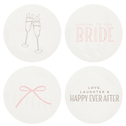 Letterpress Bride Coasters