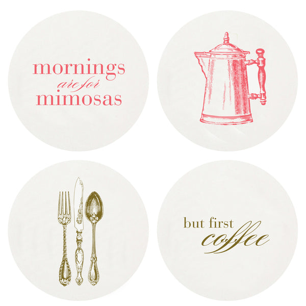 Letterpress Brunch Coasters