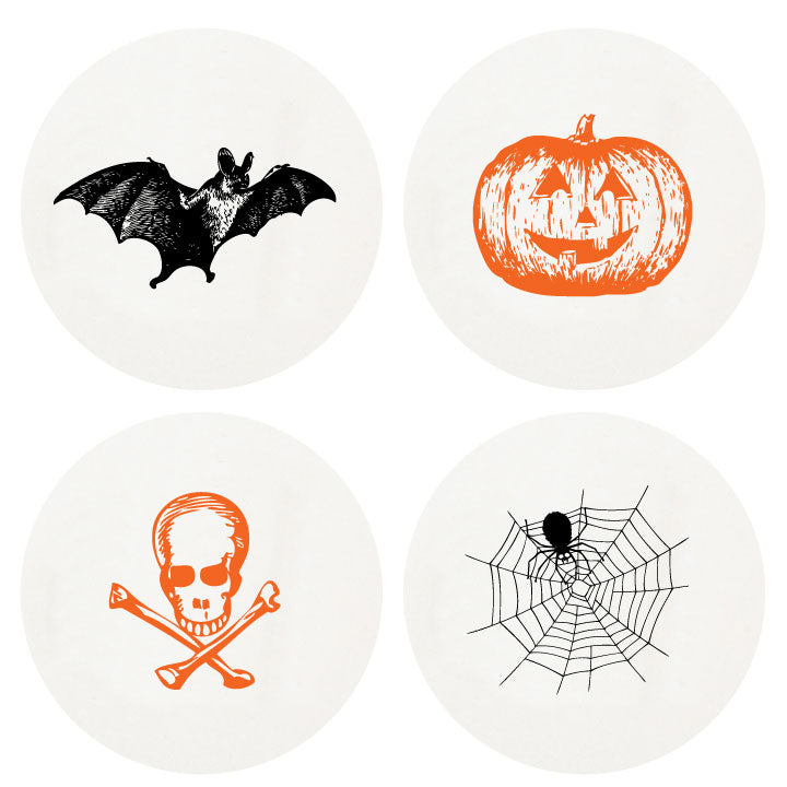 Letterpress Halloween Coasters