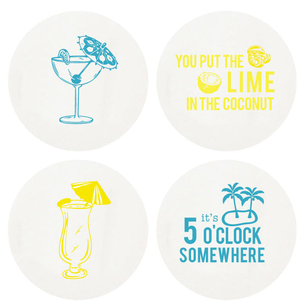 Letterpress Happy Hour Coasters