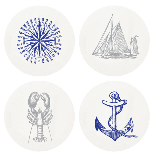 Letterpress Nautical Coasters