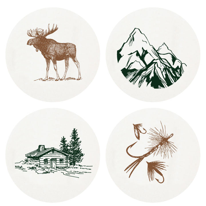 Letterpressed Outdoor Coasters