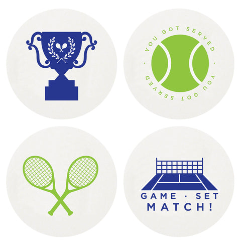 Letterpress Tennis Coasters