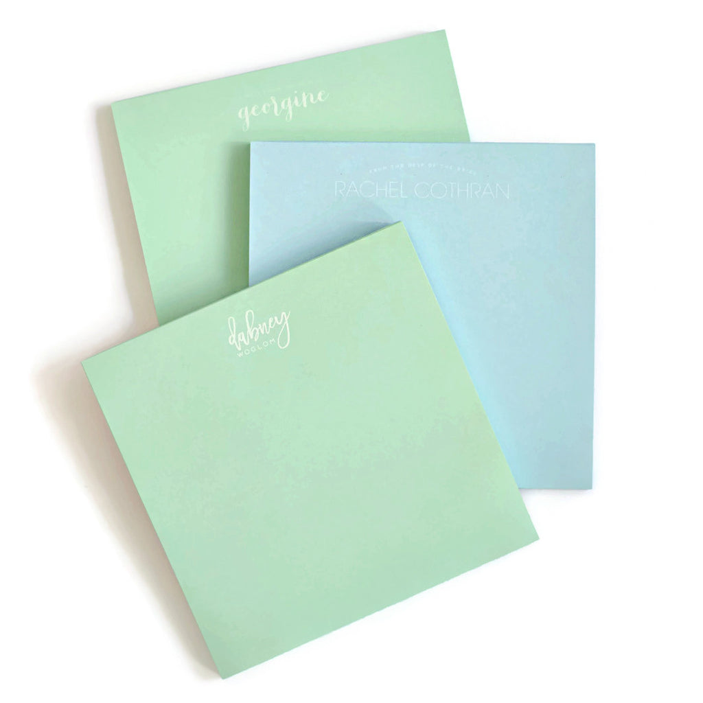 Personalized Square Pastel Notepads