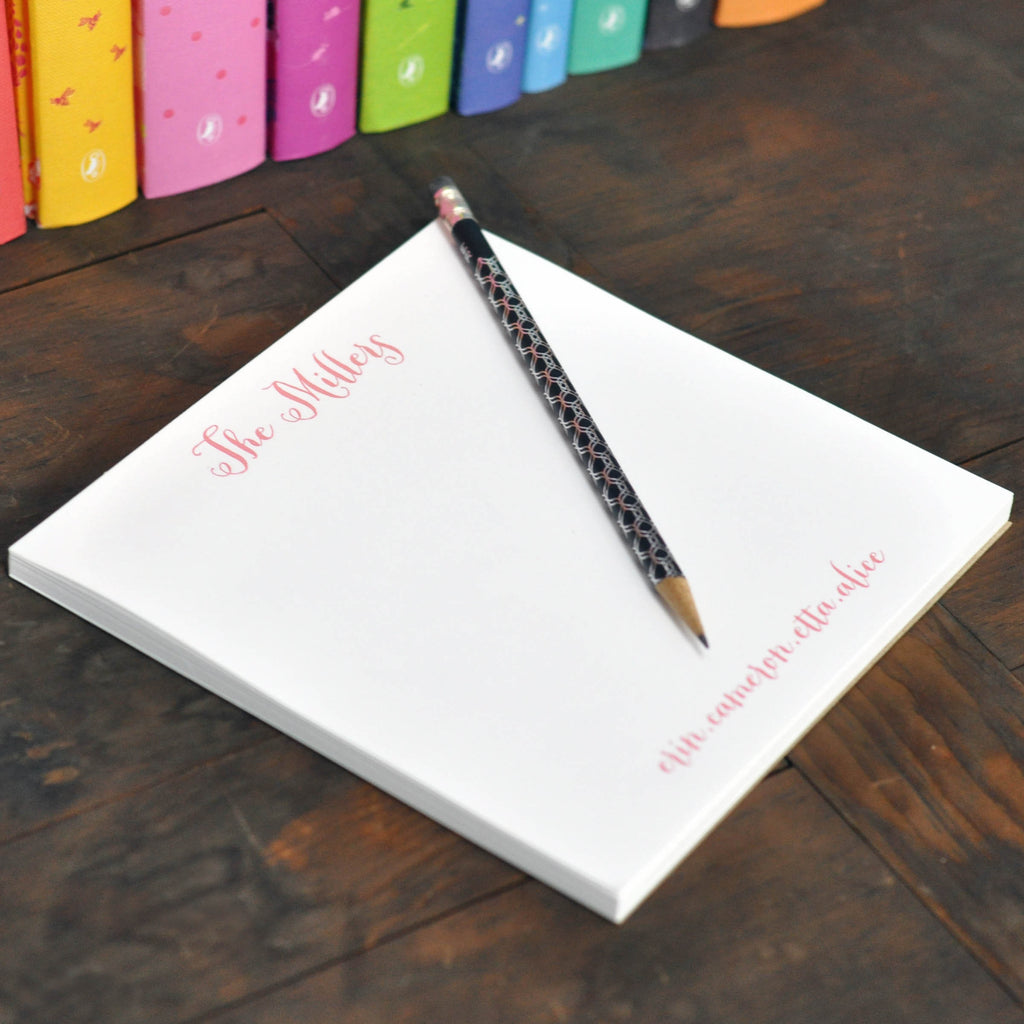 Personalized Square Executive Notepad