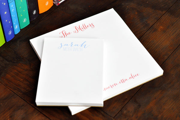 Personalized Small Executive Notepad