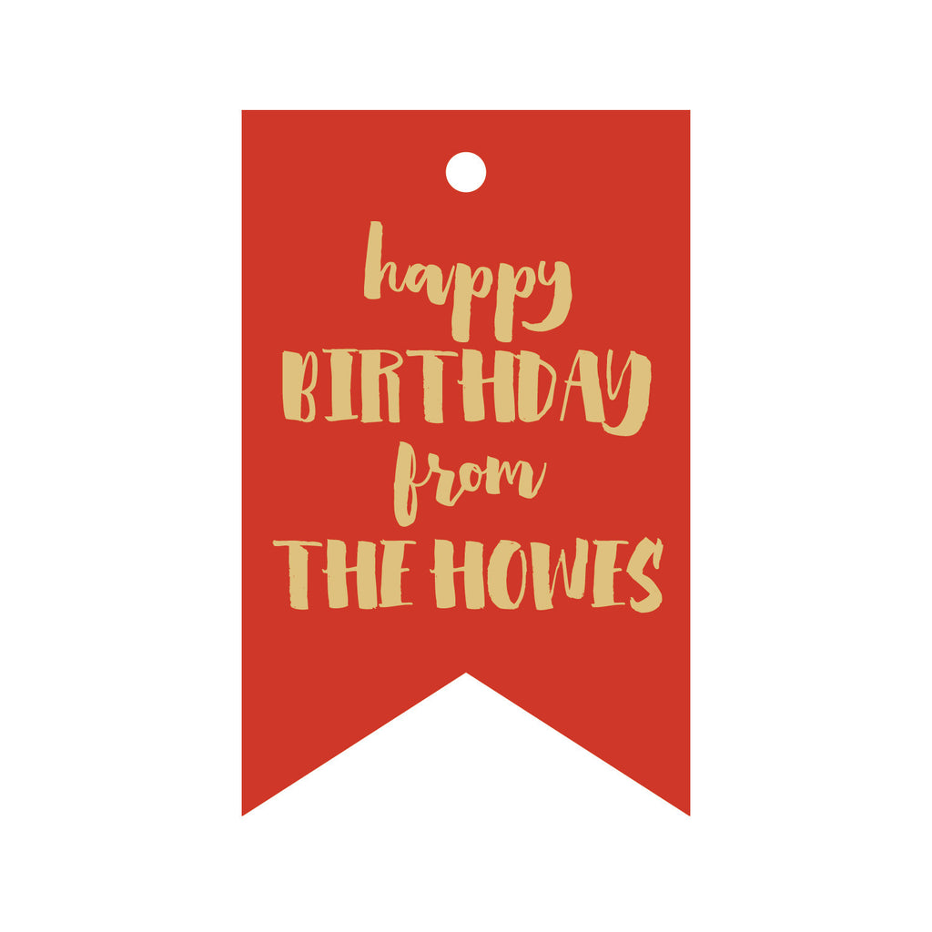 Foil Gift Tag - T186