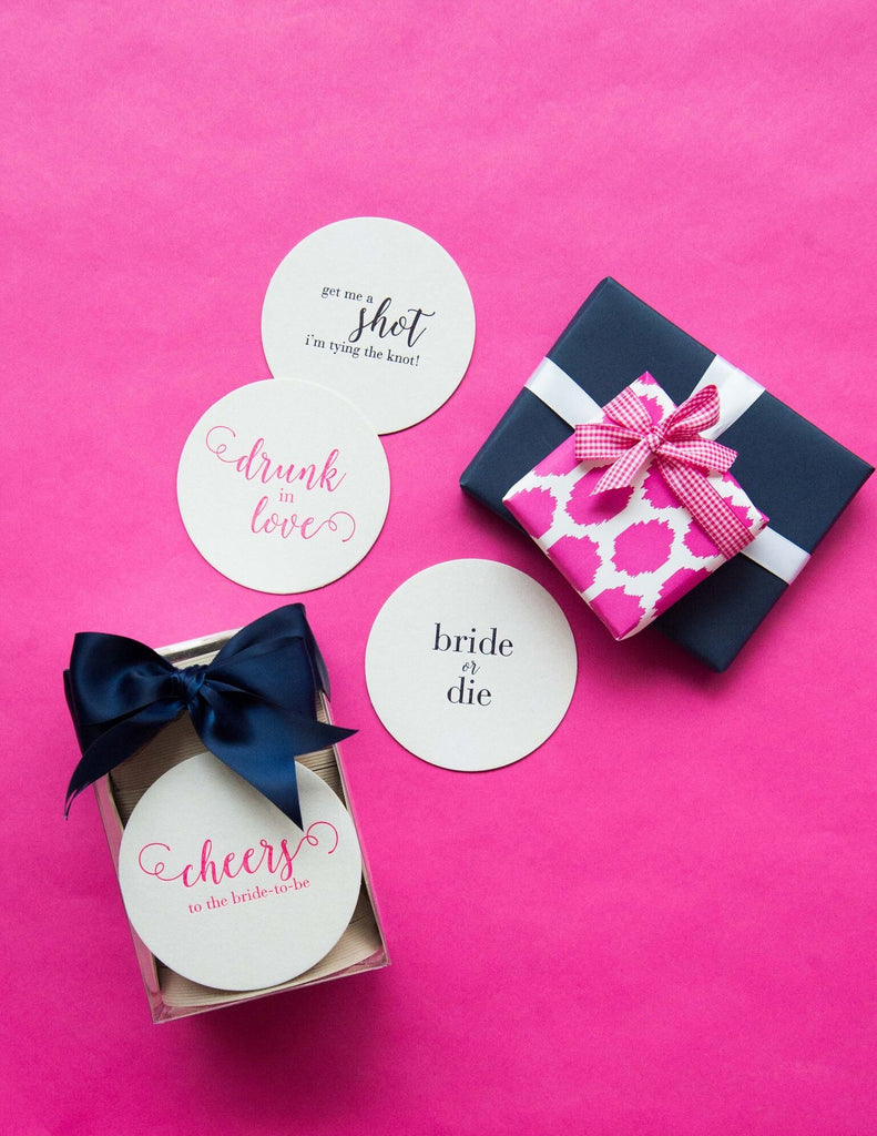 Letterpress Bachelorette Coasters – MADdesign