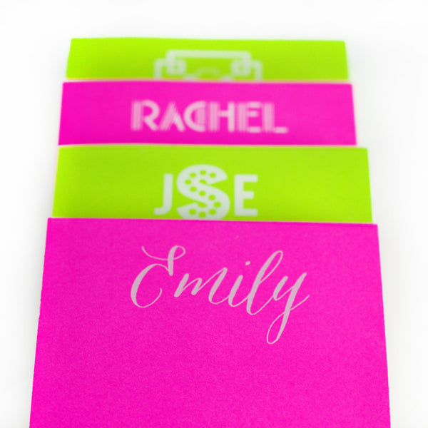 Personalized Skinny White on Bright Notepads