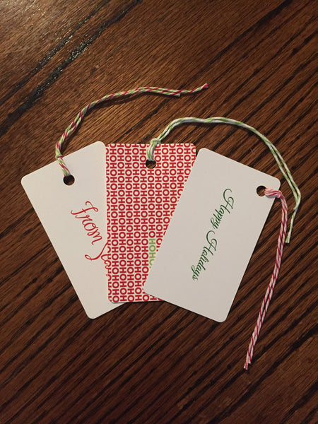 Happy Holidays Gift Tags #2