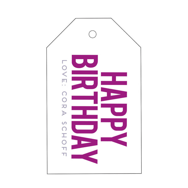 Letterpress Gift Tag - T100