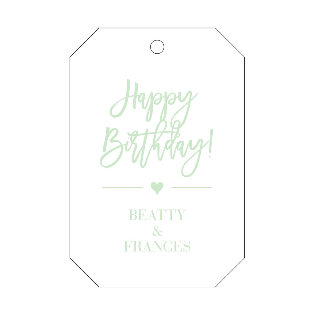 Letterpress Gift Tag - T101