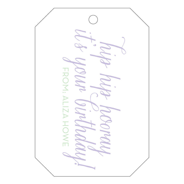 Letterpress Gift Tag - T26