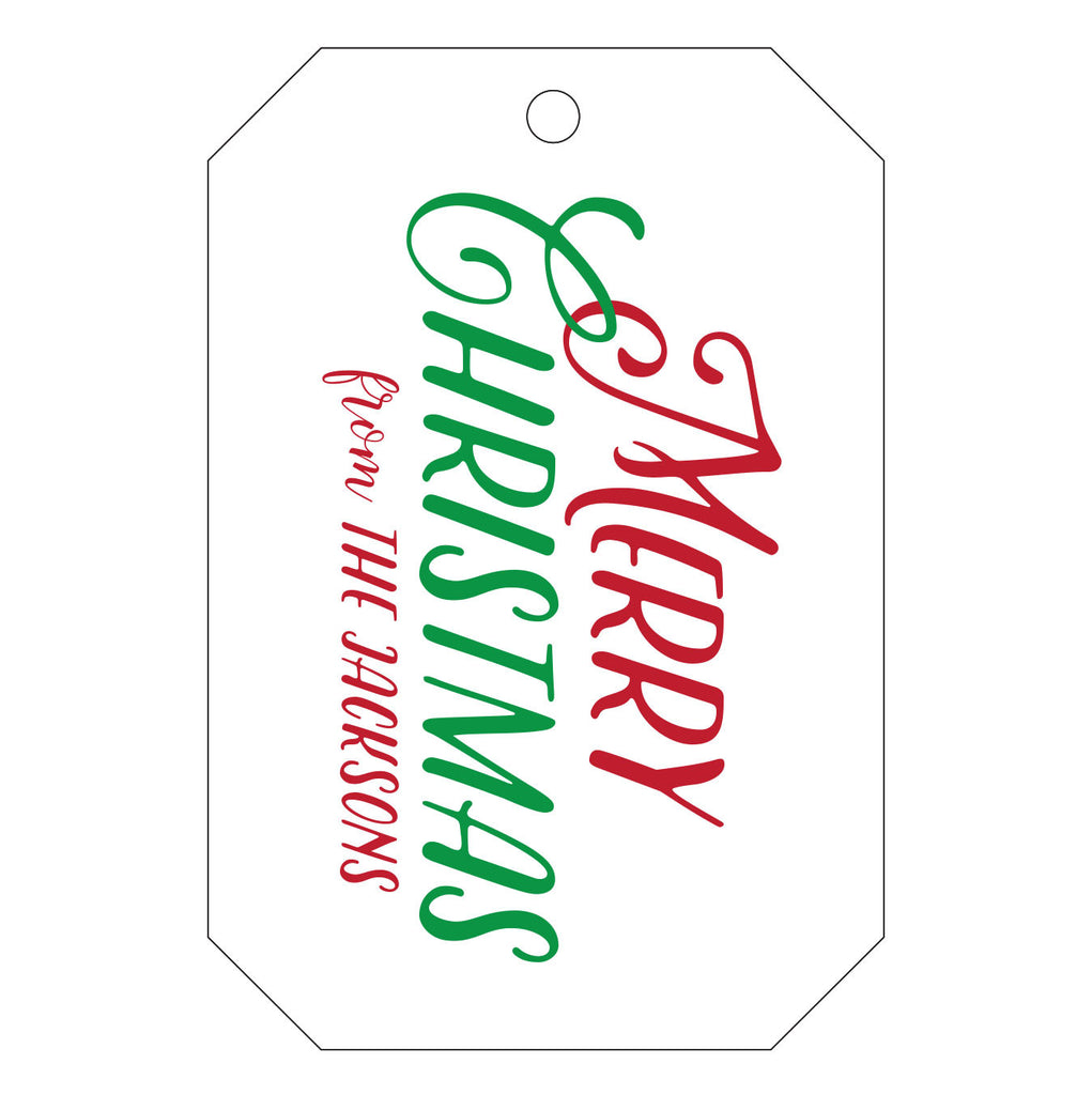 Holiday Letterpress Gift Tag - T32