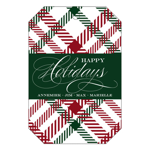 Holiday Letterpress Gift Tag - T36