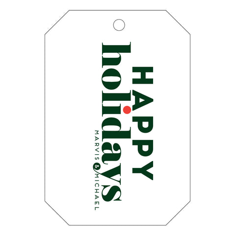 Holiday Letterpress Gift Tag - T40