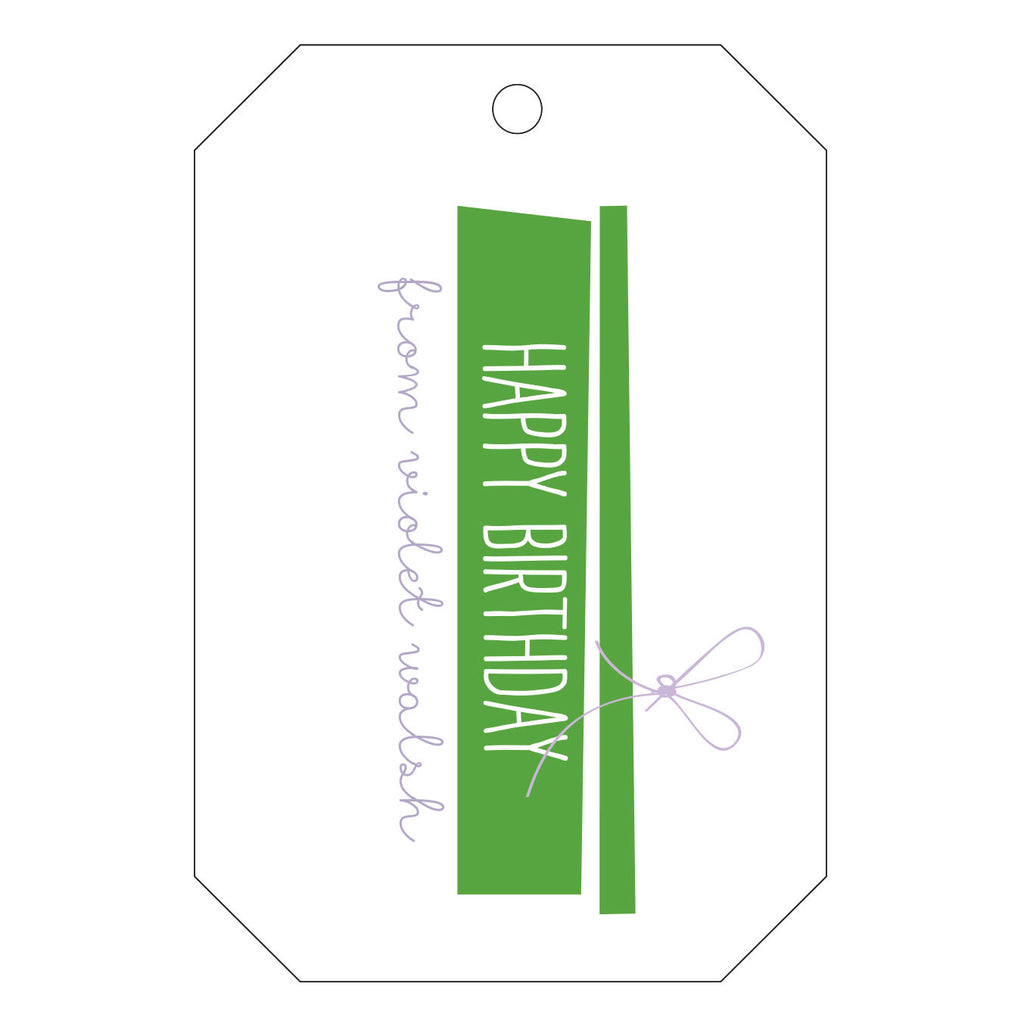 Letterpress Gift Tag - T41