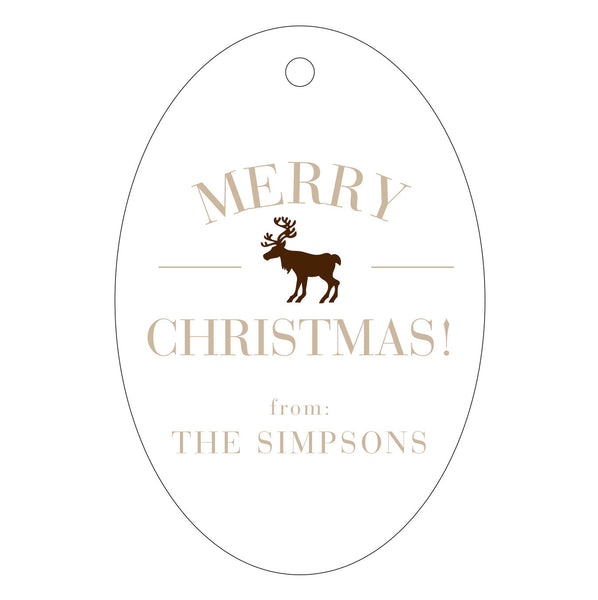 Holiday Letterpress Gift Tag - T43