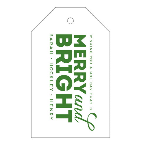 Holiday Letterpress Gift Tag - T44