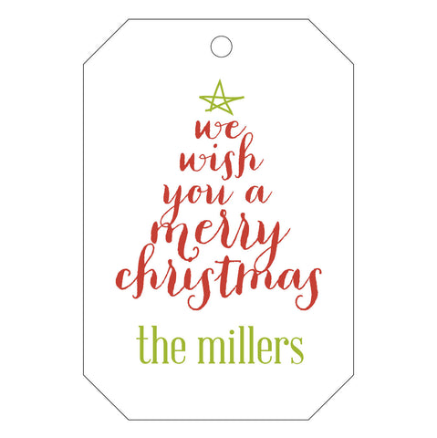 Holiday Letterpress Gift Tag - T48