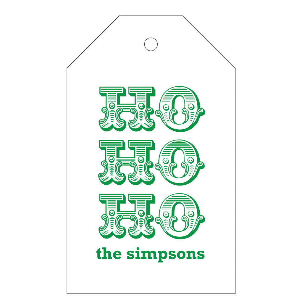 Holiday Letterpress Gift Tag - T65