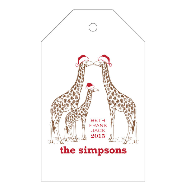 Holiday Letterpress Gift Tag - T66