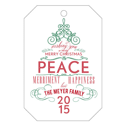 Holiday Letterpress Gift Tag - T69