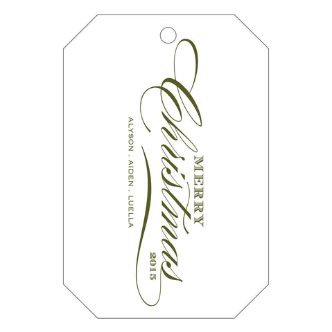 Holiday Letterpress Gift Tag - T70
