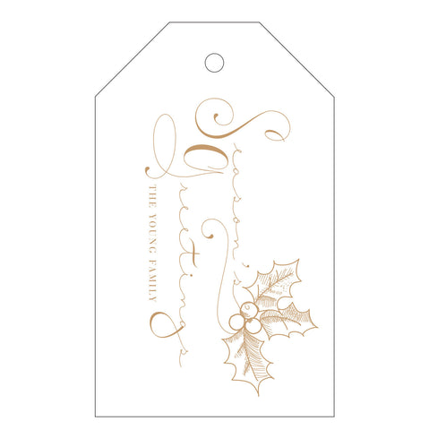 Holiday Letterpress Gift Tag - T71