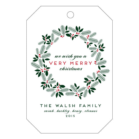 Holiday Letterpress Gift Tag - T74