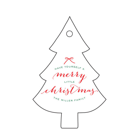 Holiday Letterpress Gift Tag - T87