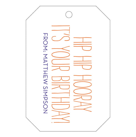 Letterpress Gift Tag - T9