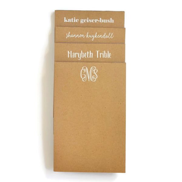 Personalized Large Kraft Notepads