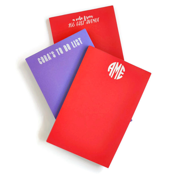 Personalized Large Primary Colors Notepad