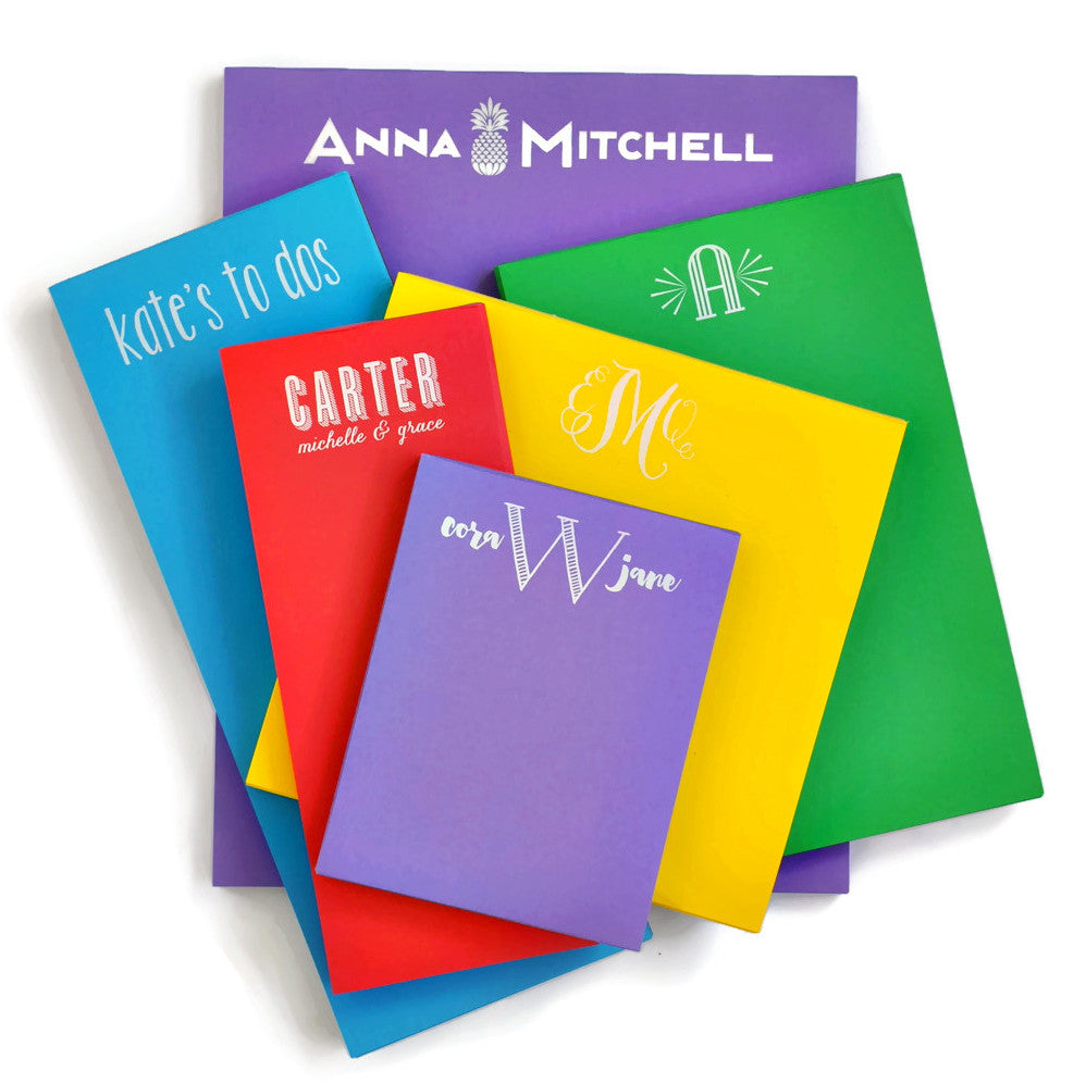 Personalized Primary Colors Notepad Combo Packs