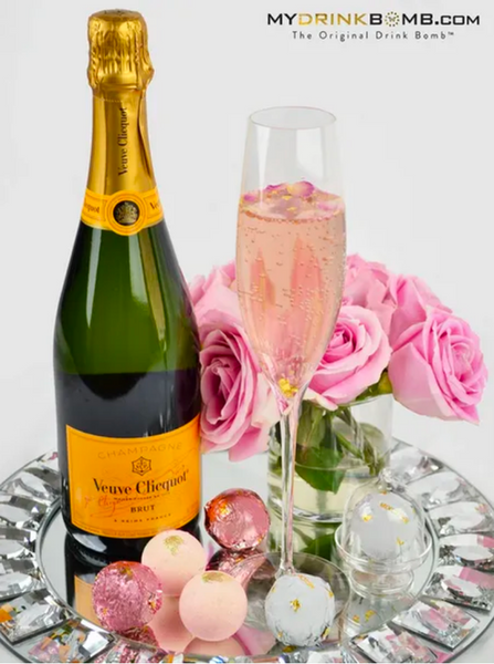 Prosecco Rose Drink Bomb