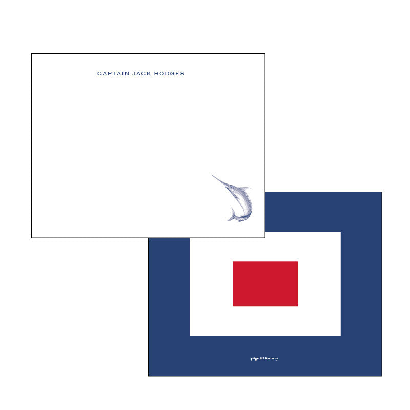 Stationery for Men - Blue Marlin