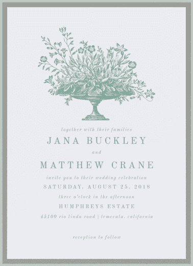 Test of Time Wedding Invitation