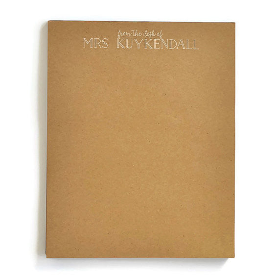 Personalized Letter Kraft Notepads
