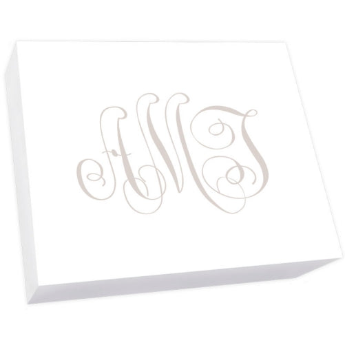 Henley Watercolor Monogram Super Slab - White