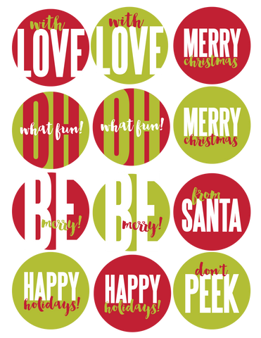 Christmas Stickers - Sheet