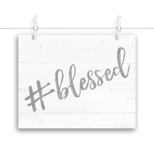 #blessed Nursery Art - White&Gray 10