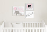 "#blessed Nursery Art - White&Gray 10""x8"""