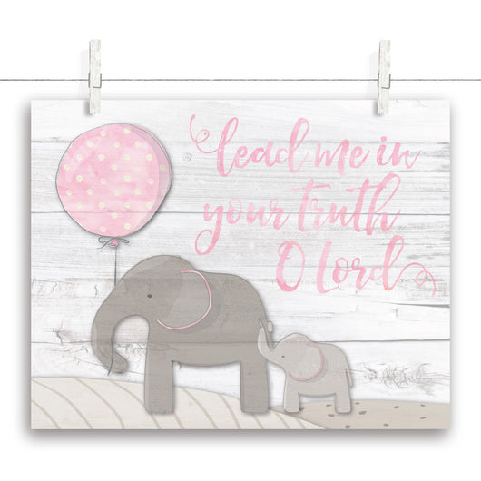 Elephant Nursery Art - Pink 14