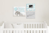 "So Little So Loved Cloud Nursery Art - Turquoise 10""x8"""